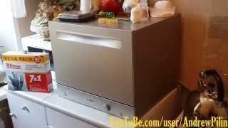 Посудомоечная машина BOSCH SKS 51E88 RU(Посудомоечная машина BOSCH SKS 51E88 RU, компактная, серебристая. Установка, первый взгляд, отзыв., 2014-09-07T22:10:20.000Z)