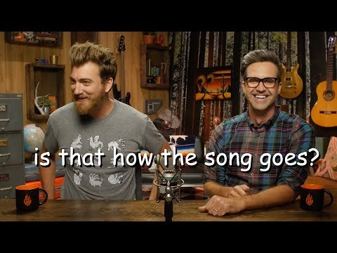 rhett and link trying to sing for 4 minutes straight