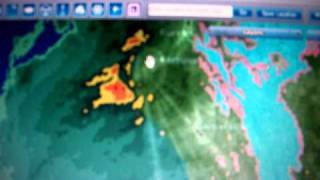 3 19 2011 odd looking radar anomalies in california ring with beams haarp