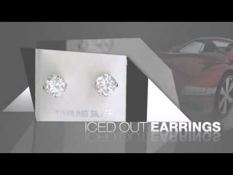 8mm Round CZ .925 Sterling Silver Earrings