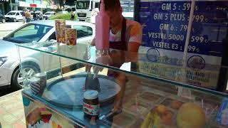 Tayland usulü tava dondurma. Zonguldak'da ilk!