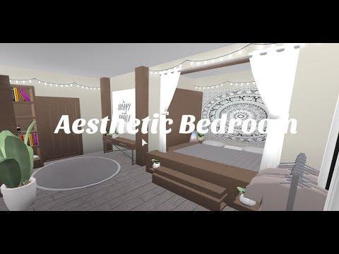 Aesthetic Bedroom Welcome To Bloxburg Speed Build Youtube