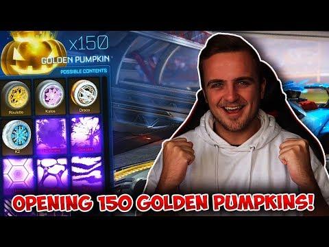 OPENING 150 NEW GOLDEN PUMPKINS IN ROCKET LEAGUE! *INSANE* thumbnail