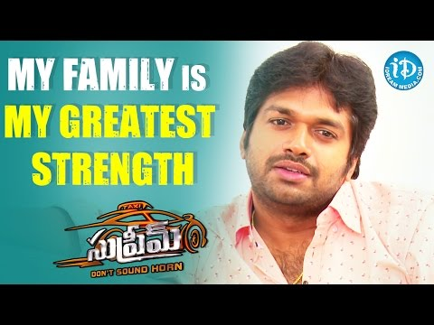 My Family Is My Greatest Strength - Anil Ravipudi || #Supreme Movie || Talking Movies With iDream
