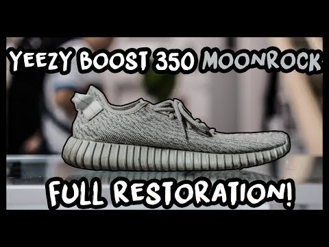 ADIDAS YEEZY BOOST 350 MOONROCK FULL RESTORATION! - PERFECT COLOR MATCH!