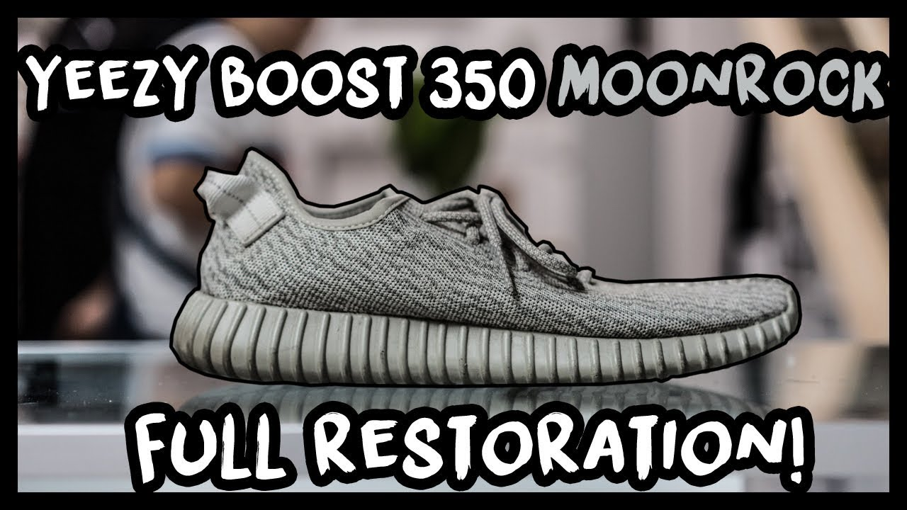 2d704c65d1691 ADIDAS YEEZY BOOST 350 MOONROCK FULL RESTORATION! - PERFECT COLOR MATCH!