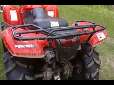 honda rancher 420 big gun exhaust youtube
