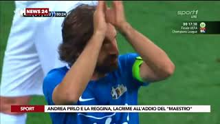 """Andrea Pirlo e la reggina, lacrime all'addio del """"maestro"""""""