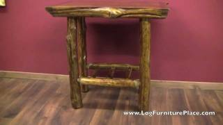 Rustic Log Pub Table From The Cedar Lake Cabin Collection