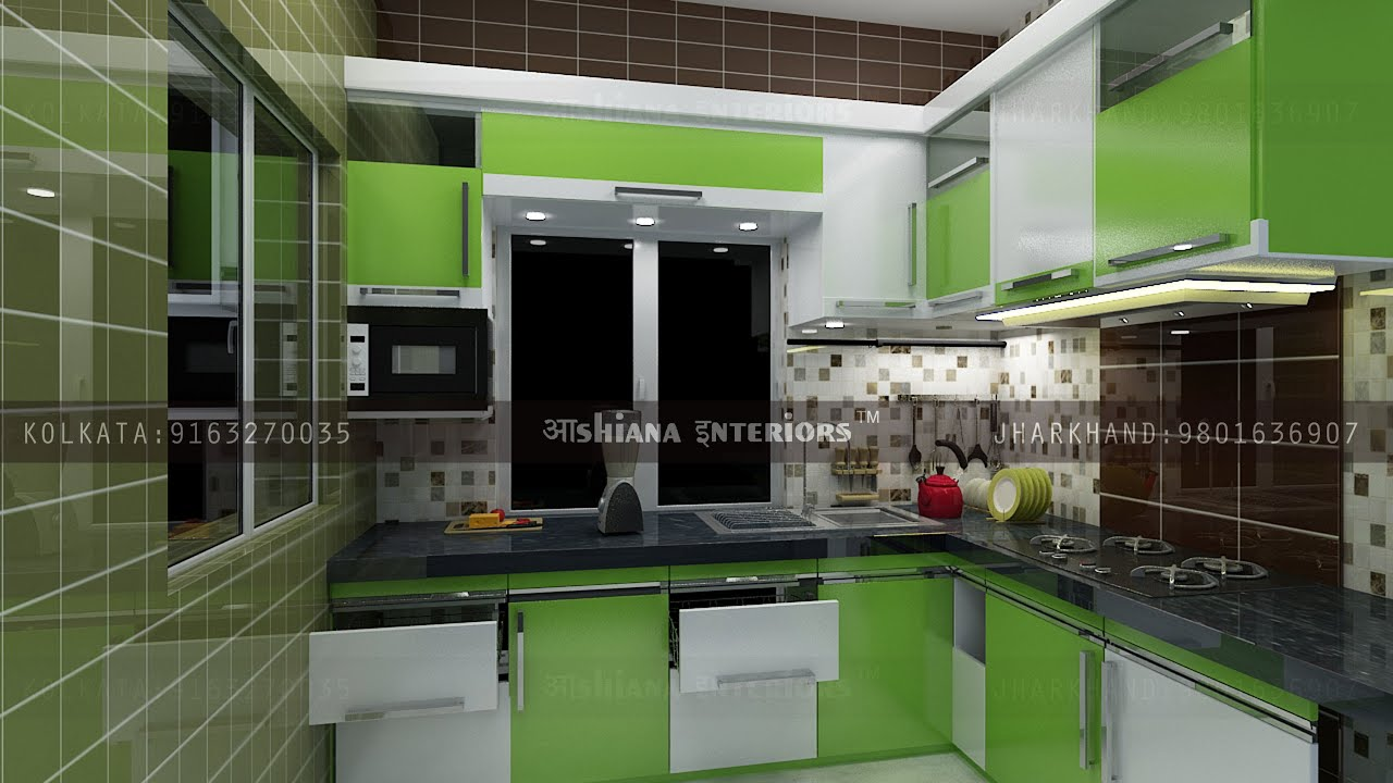 Modular Kitchen Design Kolkata modular kitchen designashiana interiors kolkata - youtube