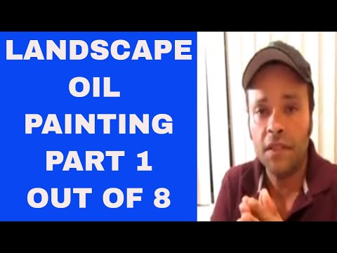 RAINBOW LANDSCAPE OIL PAINTING DRAWING STAGE PART 1 OUT OF 8