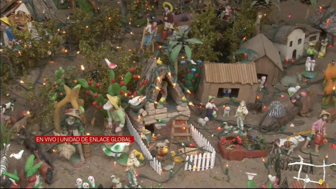 94b9982e097 Nacimiento navideño con gran creatividad - YouTube