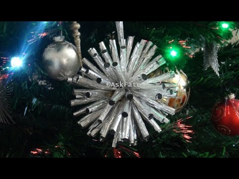 Aluminum Foil Christmas Tree Ornaments - DIY