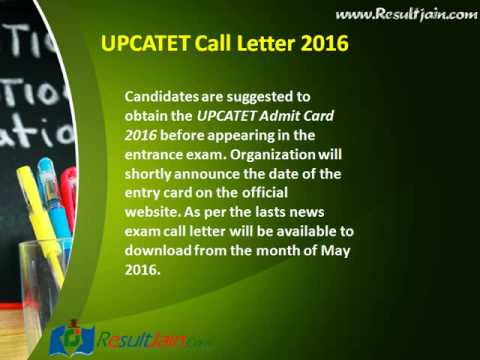 Upcatet admit card 2016 upcatet exam call letter youtube thecheapjerseys Choice Image