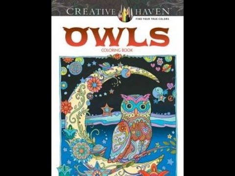 Flip Through Dover Creative Haven Owls Coloring Book By Marjorie Sarnat