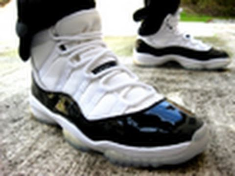 75a855c4981e30 Quick Look  Air Jordan XI Concord Retro 2000 - YouTube
