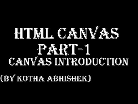 HTML Canvas Introduction in telugu Part 1