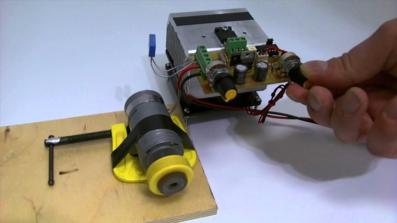 Pwm dc motor speed controller on tl494 acmy494hv pcb youtube for Motor speed control pwm