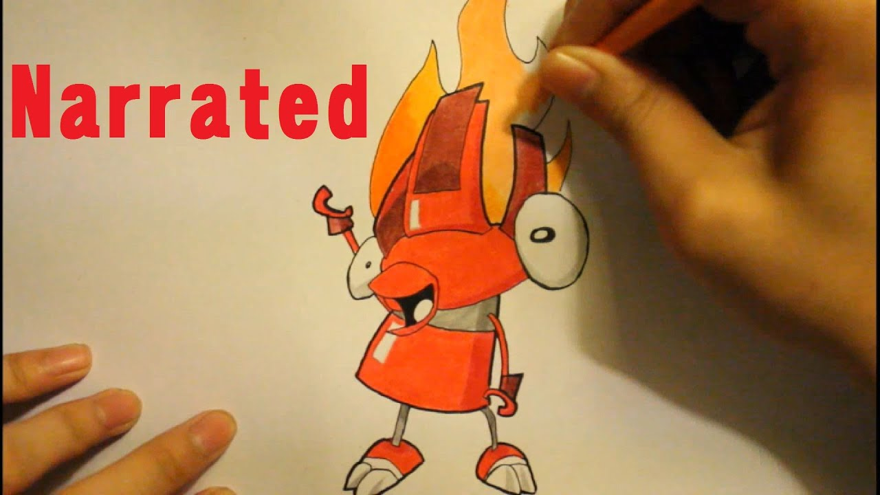 How To Draw Mixels Characters How To Draw Flain From Mixels Youtube