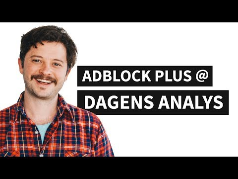Adblock Plus presentation at Dagens Analys
