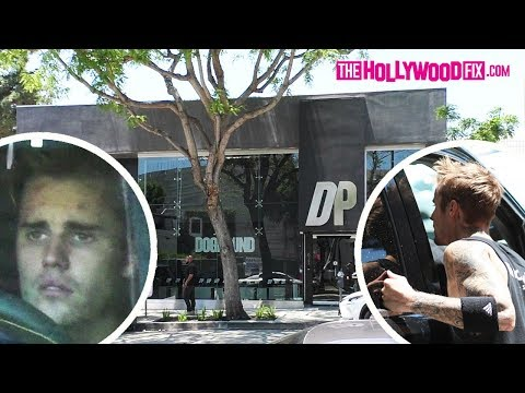 Justin Bieber & Hailey Hide From Paps Before Working Out At Dogpound With Heavy Security 5.24.19