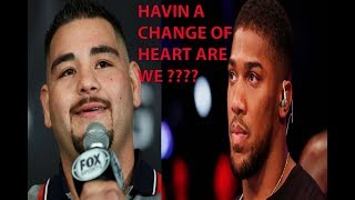BREAKING NEWS: (MUST WATCH) ANTHONY JOSHUA MAY BACK OUT ANDY RUIZ REMATCH ACCORDING TO REPORTS ! !