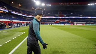 FC Barcelona: Training session in Paris