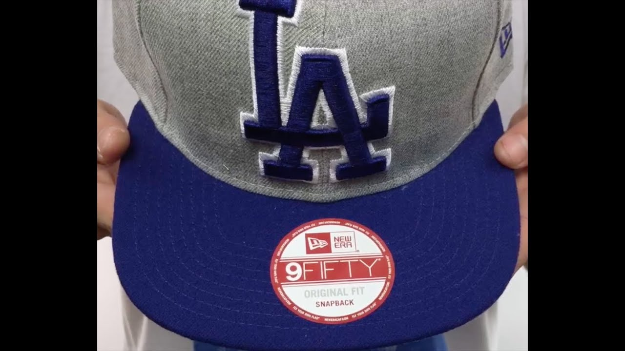 2c7eb53e81c Dodgers  LOGO GRAND SNAPBACK  Grey-Royal Hat by New Era - YouTube