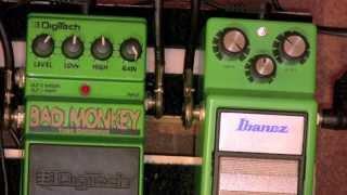 Digitech Bad Monkey Vs Ibanez Tube Screamer TS9 Overdrive Pedal Shootout