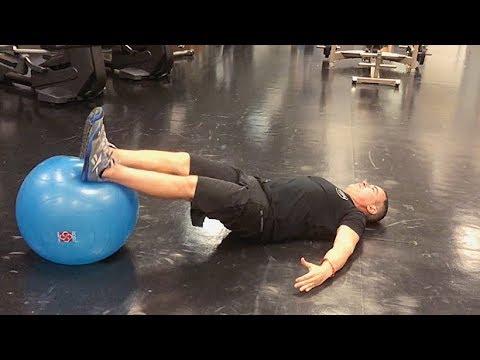 Stability-Ball Leg Curl