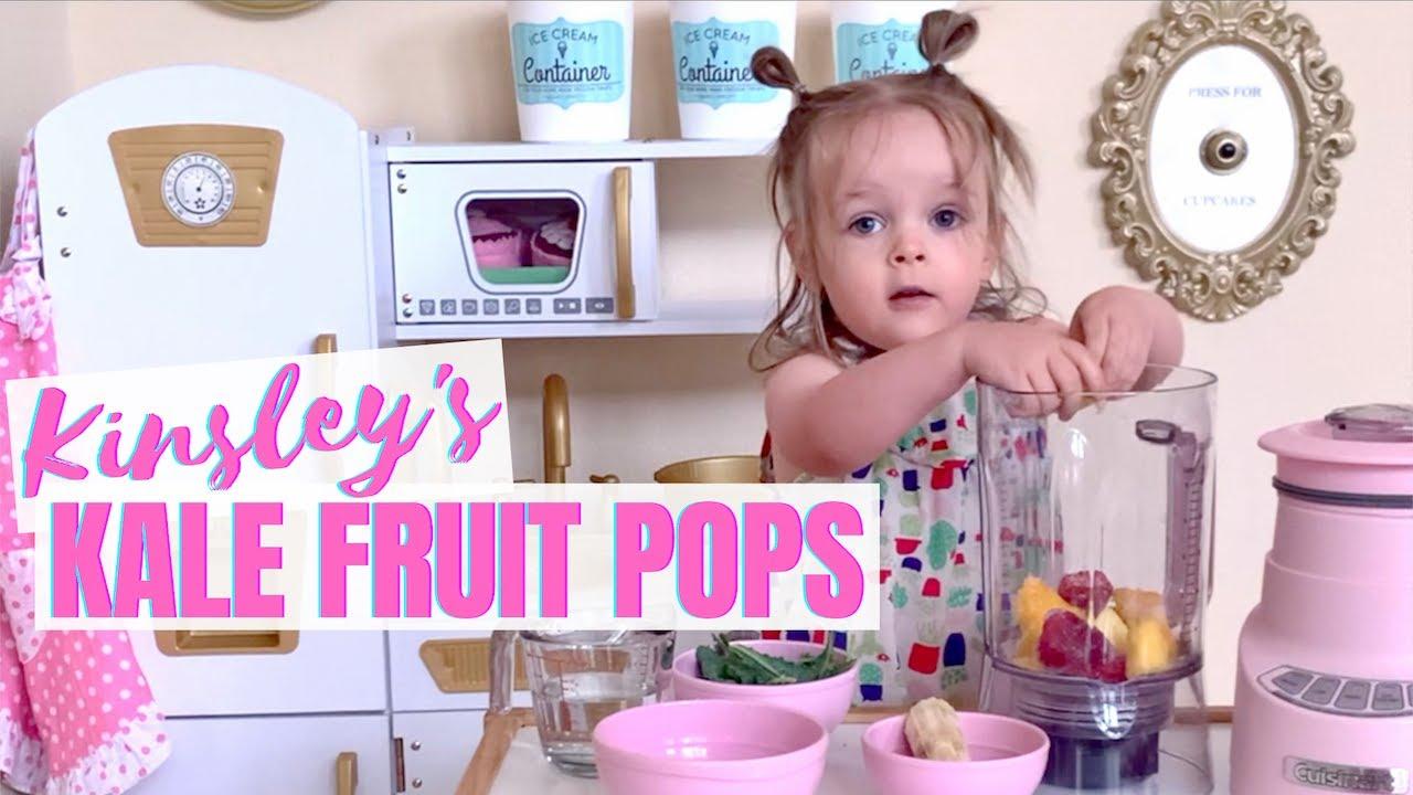 Kale Fruit Popsicles with Kinsley // Lindsay Ann
