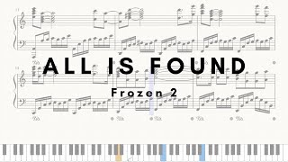 All Is Found (Frozen 2) Sheet Music Piano Solo / 겨울왕국 2 OST