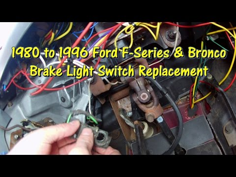 how to replace the brake light switch 80-96 ford f series & bronco by  @gettinjunkdone - youtube