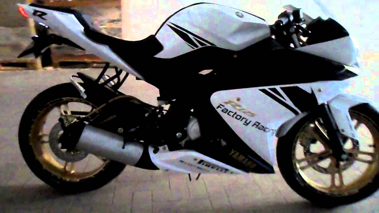 yamaha yzf r125 absolute white walk around youtube. Black Bedroom Furniture Sets. Home Design Ideas