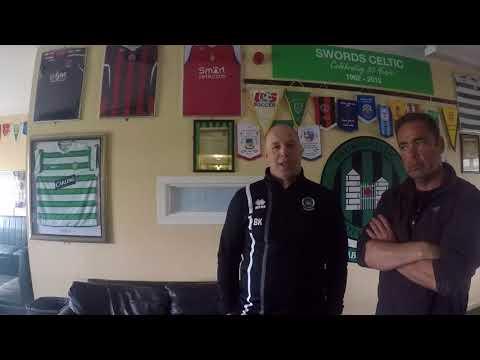 Swords Celtic manager brendan Kennedy