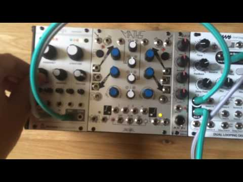 Mutable instruments rings controlled by frames and tempi