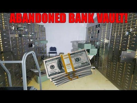 BROKE INTO BANK VAULT! Found Cash Exploring Abandoned Bank Vault!