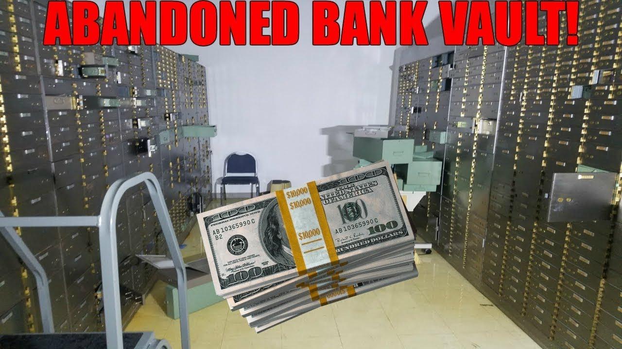 snuck into bank vault found cash exploring abandoned bank vault youtube. Black Bedroom Furniture Sets. Home Design Ideas