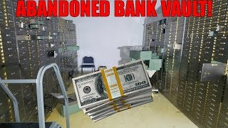SNUCK INTO BANK VAULT! Found Cash Exploring Abandoned Bank Vault!