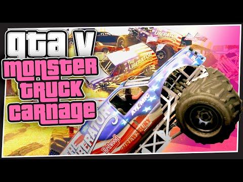 GTA 5 Online - Monster Truck Carnage (GTA Custom Games)