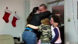 Me surprising my sisters for Christmas!