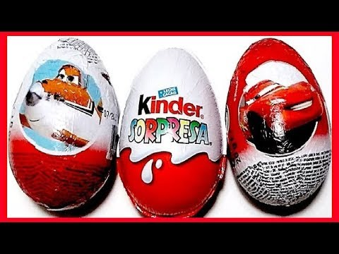 3 HUEVOS SORPRESA, AVIONES, CARS Y LOS PITUFOS MAGIC KINDER COLECCIÓN 2013. KINDER SURPRISE EGG Travel Video