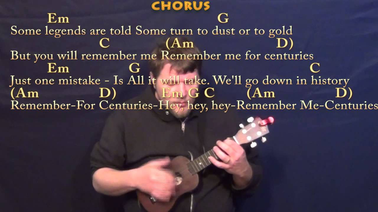 Centuries Fall Out Boy Ukulele Cover Lesson with Chords/Lyrics