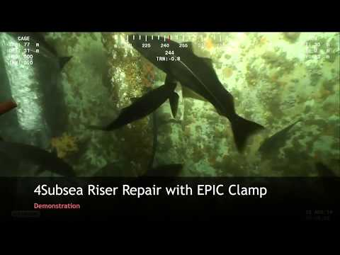 4Subsea clamp repair - demonstration subsea