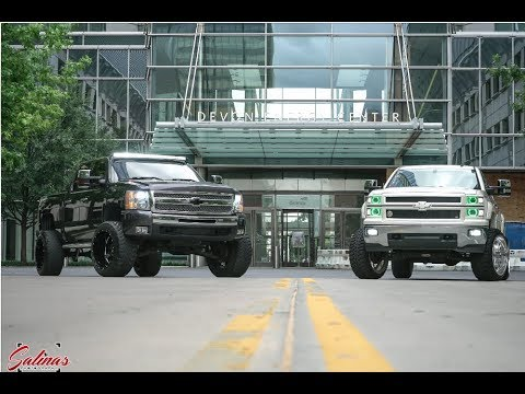 Two Brothers starting off their lifted trucks in Oklahoma City!