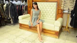 """Обзор замшевого платья  """"Кристина"""" из натуральной кожи и замши, цвет серый #33"""