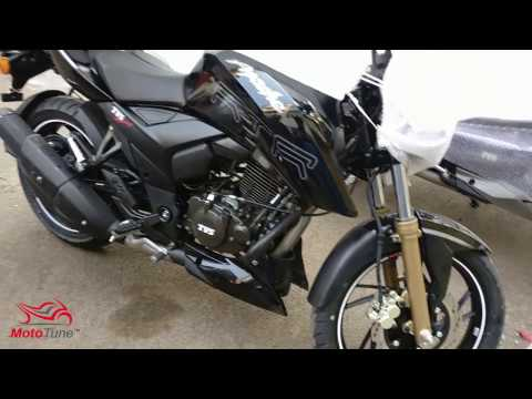 2017 TVS Apache RTR 200 4V Gloss Black Fuel Injection (Fi) & RTR160 : BS4 : Updates : 50Fps