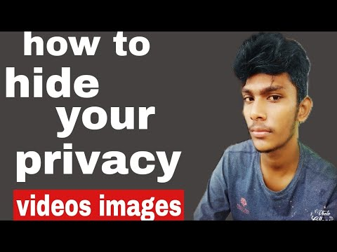 how to hide your videos images and contact and note easy