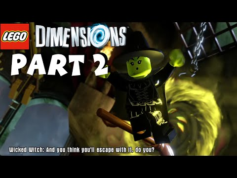 Lego Dimensions Walkthrough Part 2 - Wizard of Oz / Wicked Witch Boss Battle - 1080P HD Gameplay