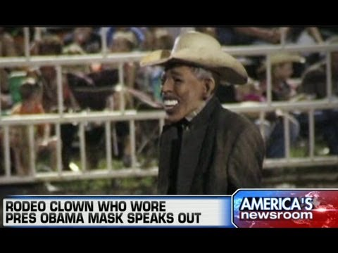 Obama Mask Rodeo Clown Gets Death Threats Taste Of